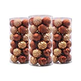 Valery Madelyn 30 Set Woodland Shatterproof Christmas Ball Ornaments,60mm/2.36inch,30 Hooks Included