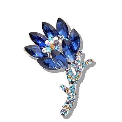 Boda nupcial Ramo de Flores Plantas Flores joyas de diamantes de imitación de cristal broche PIN nuevo