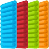 Image of IHUIXINHE Ice Tube Making Trays, Perfect Ice Cube Sticks Molds for Small Mouth Sport Water Bottles, Bottled Soda, Silicone Ice Stick Tray Set of 4 packs, 40 ice sticks (Classic color)