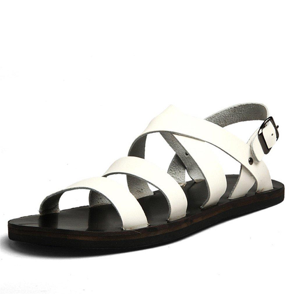 M?nner Sandalen Sommer Schuhe Strand Breathable Schnalle Gladiator Sandalen White