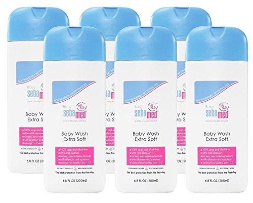 Sebamed Extra Soft Baby Wash, 6.8 oz/200ml, 6 Pack by SEBAMED