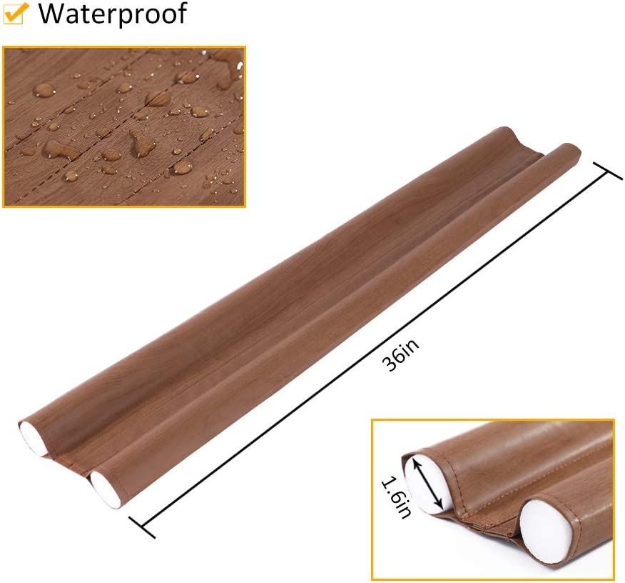 SWISSELITE 36 Inch Under Door Draft Stopper,Sound Proof Reduce Noise,Energy Saving Under Door Draft Stopper Door Weather Stripping
