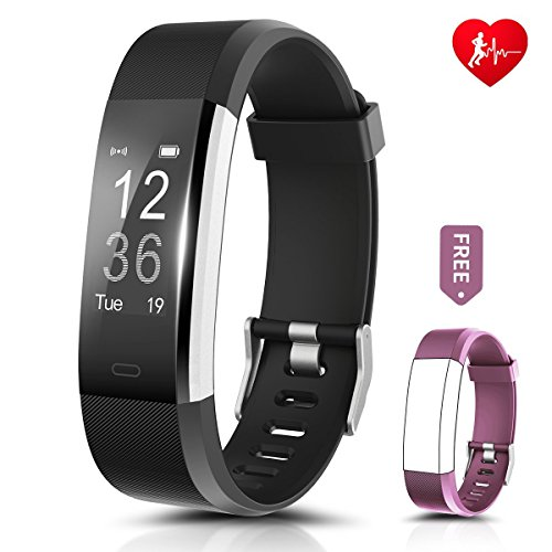 Fitness Tracker, Ronten R2 Plus Heart Rate Monitor Waterp...