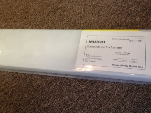 - Mutoh Eco-Solvent Ultra Valuejet 440mL Ink Cartridge - Yellow