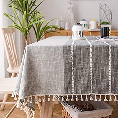 Soledi Surpiqué Tassel Nappe Coton Couverture De Table Anti