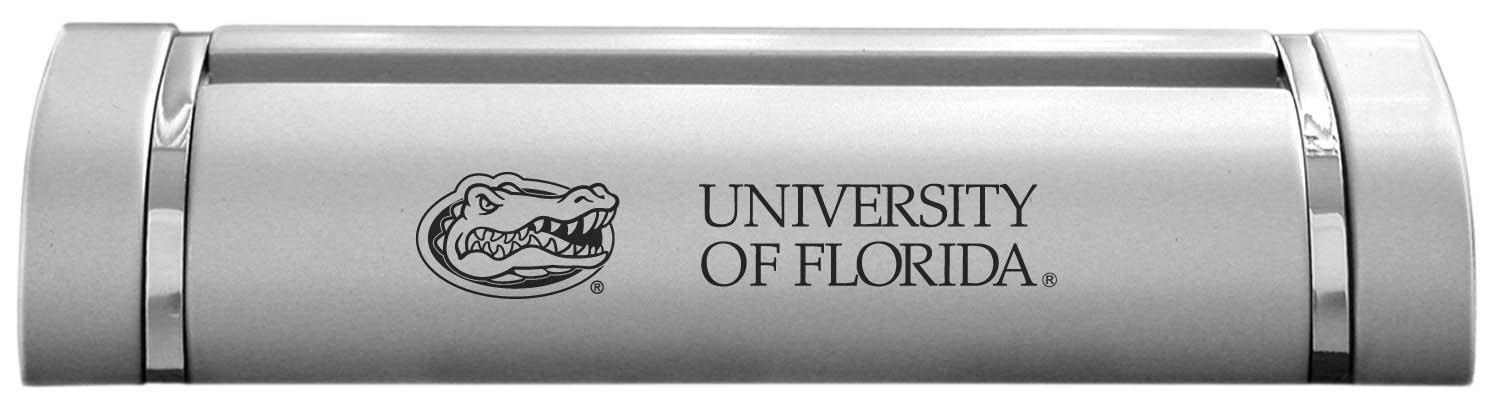 Amazon.com : University of Florida-Desk Business Card Holder -Silver ...