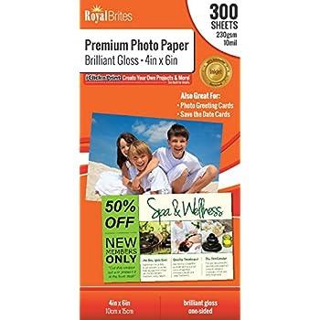 Amazoncom Royal Brites Premium Photo Paper Brilliant High Gloss