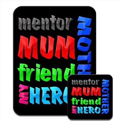 Mother Mum Mentor Freind My Hero Birthday Gift Premium Mousematt Coaster Set