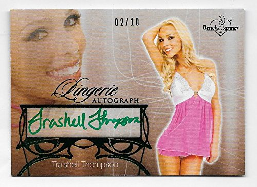 Tra'shell Thompson 2013 Benchwarmer Lingerie autograph /10 green Autograph