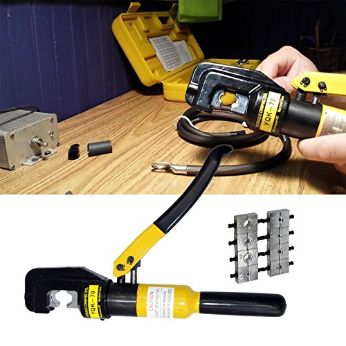 PENSON CAYQK007010 Hydraulic Wire Battery Cable Lug Terminal Crimper Crimping Tool, 9 Dies, 10 - Heavy Crimping Tool Duty