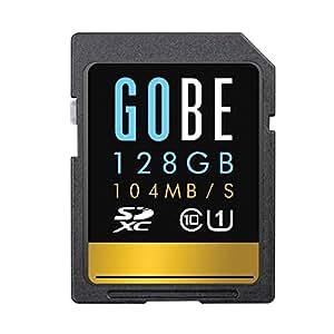 Gobe Pioneer 128GB SDXC Read 104MB/s Write 65MB/s UHS-1 Class 10 SD Memory Card