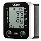 CKeep Automatic Wrist Blood Pressure Monitor Approved by FDA with Large Display Screen and High Accuracy Reading Property,Box and Batteries Included