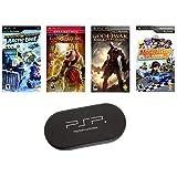 PSP ULTIMATE 4 Game Bundle with UMD Case Holder - Limited Offer!