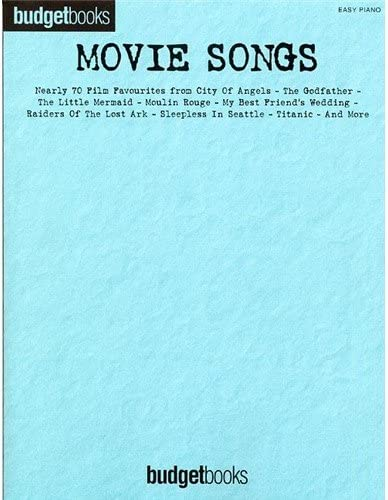 Budgetbooks: Movie Songs (Easy Piano). Partituras para Piano, Voz ...