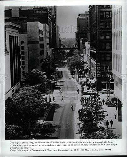 Historic Images - Vintage Press Photo Nicollet Mall Minneapolis retail area - ()