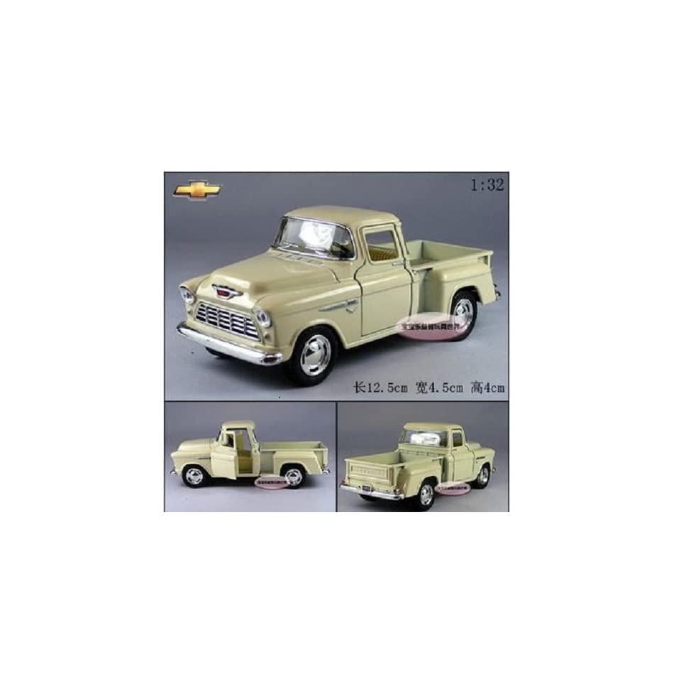 Brand New 132 Chevrolet 1955 Pickup Alloy Diecast Model Car Milky White Toy Colletion B 378