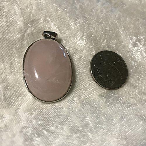 natural rose quartz gemstone oval cabochon pendant