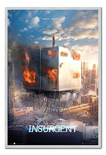 Insurgent Defy Reality Poster Kork Pinnwand silber Rahmen, 96,5 x 66 cm (ca. 96,5 x 66 cm)