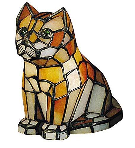 Meyda Tiffany 11332 Cat Tiffany Glass Accent Lamp, 7