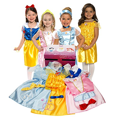 [Disney Princess Dress Up Trunk] (Cinderella Costumes For Girl)