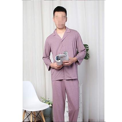 Pijamas De Los Hombres De Manga Larga Hogar Primavera Y Otoño Joven De Gran Tamaño Delgado
