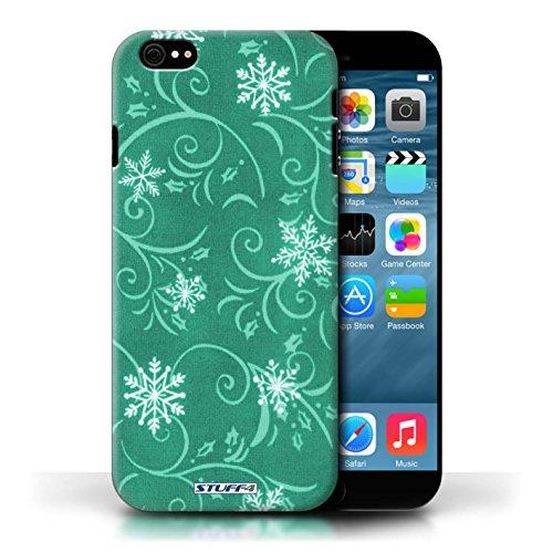 pour Apple iPhone 6/6S / Turquoise conception / Collection de Motif flocon de neige