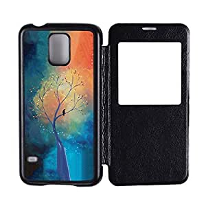 Generic Custom Picture Lonely Bird In The Tree Flip Hard PC Snap On Skin Cover Back Cell Phone Case For Samsung Galaxy S5