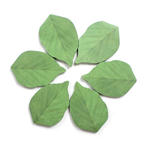300 Sheets Leaf Sticky Notes Memo Pad Paper Sticker Pads (50 Sheets/Pad x 6 - Out Cut Leaves