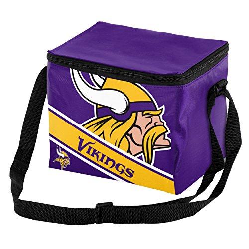 Minnesota Vikings Big Logo Stripe 6 Pack Cooler