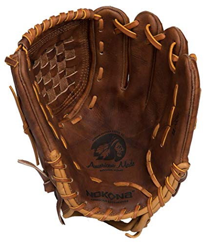 Nokona AMG175-W-CW 12-Inch Closed Web Walnut Leather Baseball Glove (Right-Handed Throw)