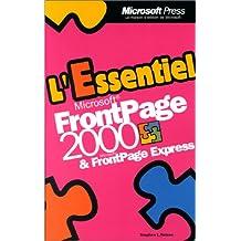 l'essentiel frontpage 2000 et frontpage express(poche)