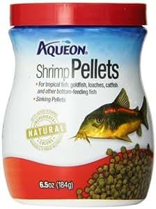 Aqueon 06189 Shrimp Pellets Fish Food, 6-1/2-Ounce