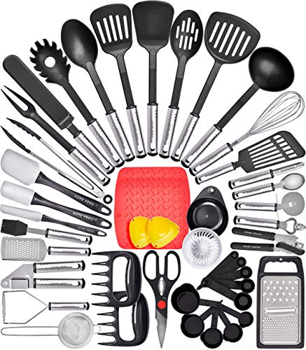 Home Hero Kitchen Utensil Set Cooking Utensils Set – Nylon Kitchen Utensils Set Kitchen Tool Set 44 Pcs. Cooking Utensil…