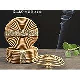 Sandalwood Incense Coils 48pcs 2hrs for Burner .