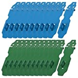 Water & Wood 23 Set Home Cupboard Doors Blue Green Metal Latch Hasp Staple--Random Color