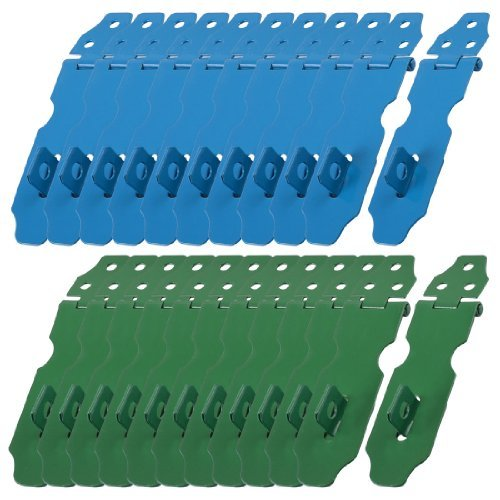 Water & Wood 23 Set Home Cupboard Doors Blue Green Metal Latch Hasp Staple--Random Color by Waterwood