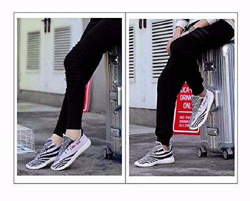 Kamma Mens Womens Fashion Turnschuhe Ligthweight & Breathable Laufschuhe Walking für Paar Casual Athletic Sport Gym Trainer Weiß
