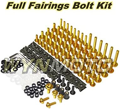 Gold Ceramicszb US Stock Complete Motorcycle Fairing Aluminum Fasteners Bolt Kit For Yamaha R6 YZF-600 R6 2006 2007 New Body Screws Hardware Clips