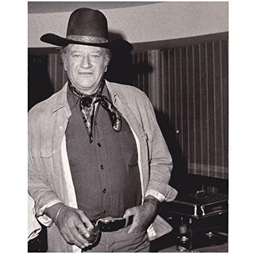 (The Duke John Wayne Holding Flask Black and White 8 x 10 Photo)