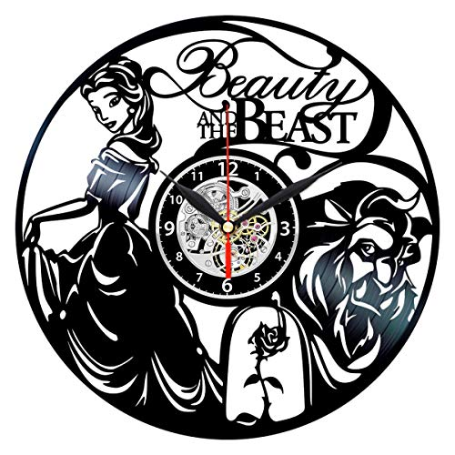Beauty and The Beast Clock - Birthday Gift for Women - Vinyl Record Wall -