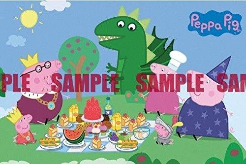 sdore Peppa Pig Dinosaur Party comestible decoración para ...