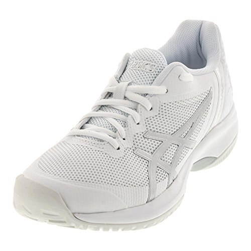 ASICS Womens Gel-Court Speed Sneaker, White/Silver, Size 6