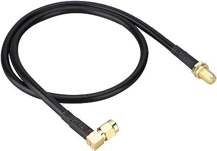 Cable SMA,Conector SMA,Cable SMA Hembra a Macho,Cable de extensión de Antena de 50 cm, Cable coaxial SMA para Antena gsm DVB-T Dab + Radio de Coche, ...