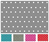 Rectangular Oilcloth PVC Wipe Clean Tablecloth 140cm x 200cm 55x78 Polka Dot (Light Grey)