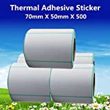 Printer Parts 7050500pcs per roll Thermal Label Adhesive Stickers 70mm X 50mm Thermal Sensitive Adhesive Sticker Barcode Printer Labels