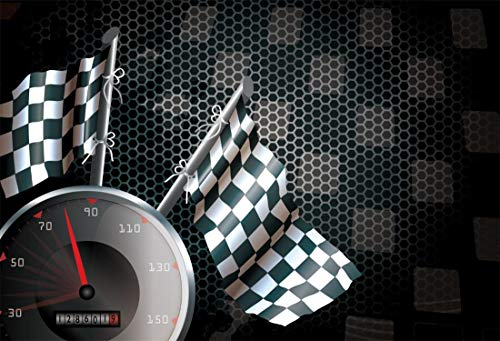 Yeele 6x4ft Photography Background Speedometer Racing Chequered Flag Motorcycle Race Speed Automobile Formula One Motor Car Motorsport Champion Competition Studio Props Photo Backdrop Wallpaper ()
