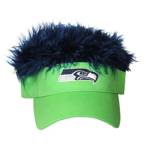 795ebf5143d91 Seattle Seahawks Flair Hair Visor. Velcro adjustable back