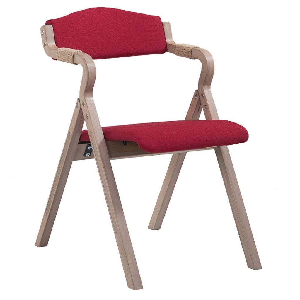 Amazon.com: Solid Wood Dining Chair Folding Chair with Hemp ...