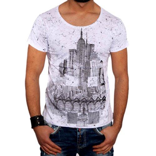 T-Shirt 6627 R-Neal, Größe:L, Farbe:Weiß / Schwarz
