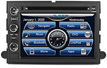 Amazon Com   Ford F  In Dash Gps Navigation Dvd Cd Player Bluetooth Adp Audio Streaming  Inch Touchscreen Fm Am Radio Usb Sd